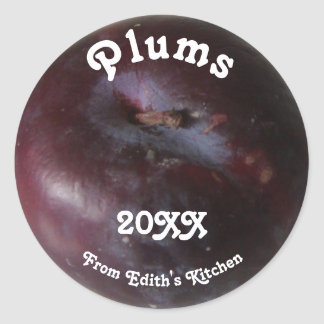 Plums Canning Label