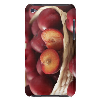 Plums in basket barely there iPod cases
