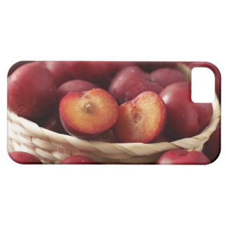Plums in basket iPhone 5 cover