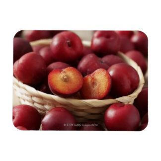 Plums in basket magnet