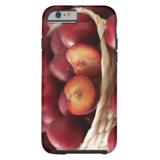 Plums in basket tough iPhone 6 case