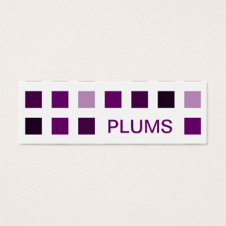 PLUMS (mod squares) Mini Business Card