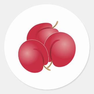 Plums Round Sticker
