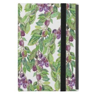 Plums watercolor pattern iPad mini cover