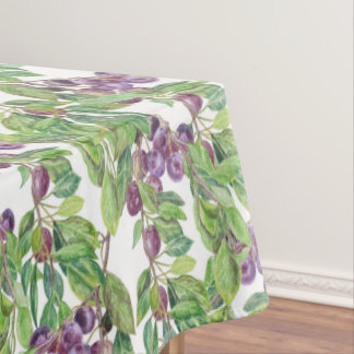 Plums watercolor pattern tablecloth