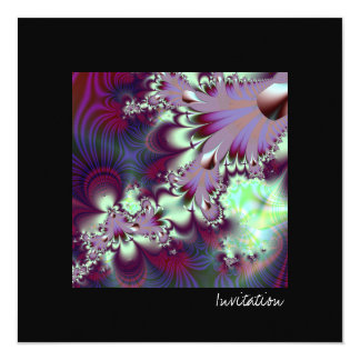 Plumule · Fractal Art · Purple & Aqua Card