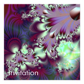 Plumule · Fractal Art · Purple Aqua Custom Invites
