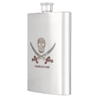 Plunder & Pillage Pirate Calico Jack Flasks