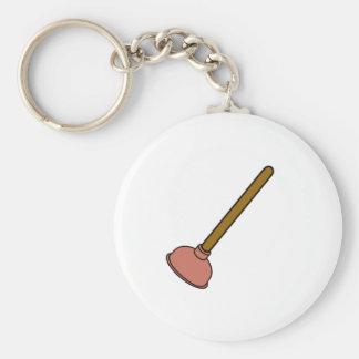 Plunger Basic Round Button Key Ring