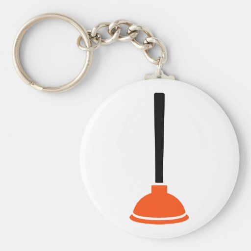 Plunger plumber key chains