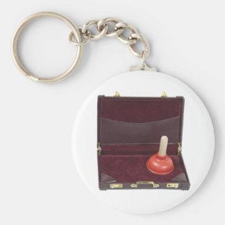 PlungerInBriefcase051411 Basic Round Button Key Ring