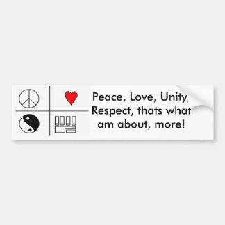 PLUR PIC, Peace, Love, Unity, Respect, thats wh... Bumper Sticker