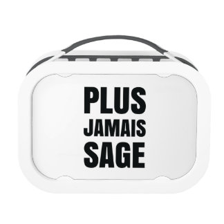 Plus Jamais Sage - I'll Never Be Good Again Lunchbox