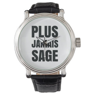 Plus Jamais Sage - I'll Never Be Good Again Wrist Watches