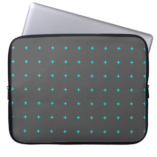 plus sign symbol background abstract geometric pat laptop sleeve