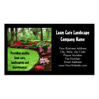 Plush Green Landscape Lawn Care Business Business Card Template