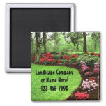 Plush Green Landscape Lawn Care Business Refrigerator Magnet