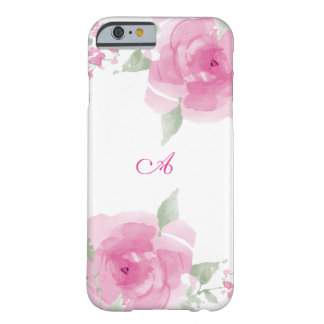 Plush Pink Watercolor Rose Barely There iPhone 6 Case