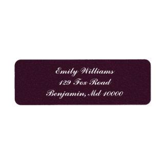 Plush Purple Return Address Label