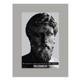 Plutarch 'measure of a man' quote postcard