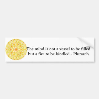 Plutarch quote education teacher learning bumper sticker