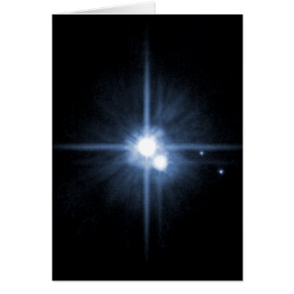 Pluto and Its Moons- Charon, Nix, and Hydra- Unlab Greeting Card