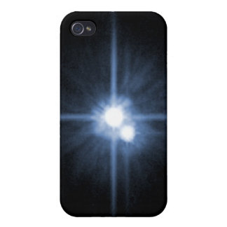 Pluto and Its Moons- Charon, Nix, and Hydra- Unlab iPhone 4 Cases