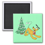 Pluto at Christmas Magnets