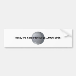 Pluto Bumper Sticker