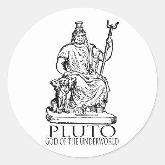 Pluto Classic Round Sticker