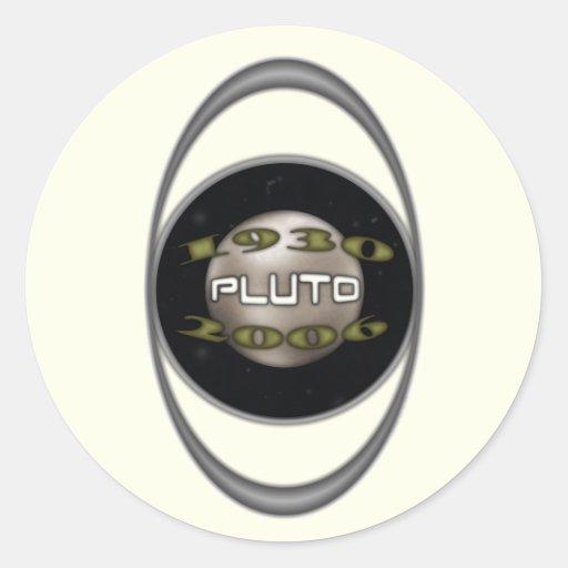 Pluto Commemorative 1930-2006 Round Sticker