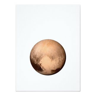 PLUTO FOR PLANETHOOD! JOIN THE CAMPAIGN! see below 17 Cm X 22 Cm Invitation Card