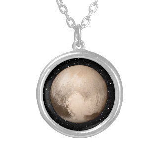Pluto Heart-View Silver Plated Necklace