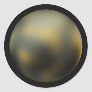 Pluto imaged by NASA's Hubble Space Telescope Classic Round Sticker
