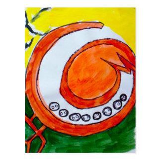 pluto moon art postcard