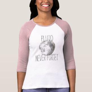 Pluto Never Forget Baseball Tee