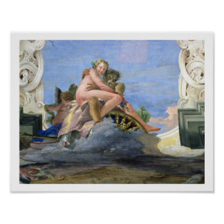 Pluto Raping Proserpine (fresco) Poster