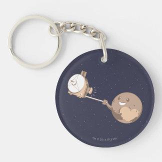 Pluto Selfie Key Ring
