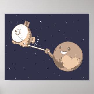 Pluto Selfie Poster