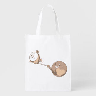 Pluto Selfie Reusable Grocery Bag