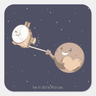 Pluto Selfie Square Sticker