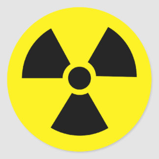 plutonium - Transuranic radioactive element Round Sticker