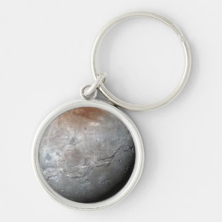 Pluto's Largest Moon: Charon Silver-Colored Round Key Ring