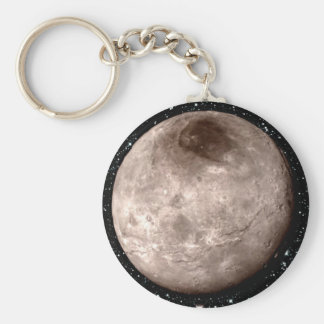 PLUTO'S MOON CHARON star background (solar system) Basic Round Button Key Ring