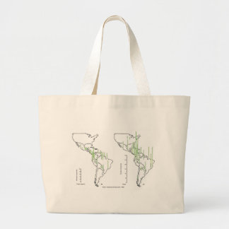 pluviomético map density South America Canvas Bags