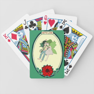 Plying fairies playing cards