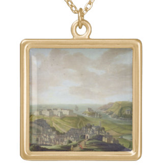 Plymouth, 1673 (oil on canvas) necklace