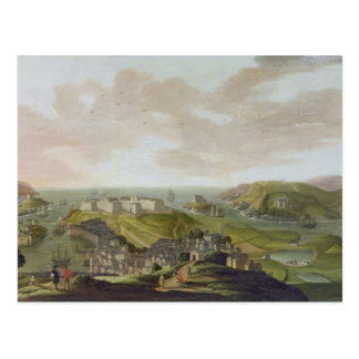 Plymouth, 1673 (oil on canvas) postcard