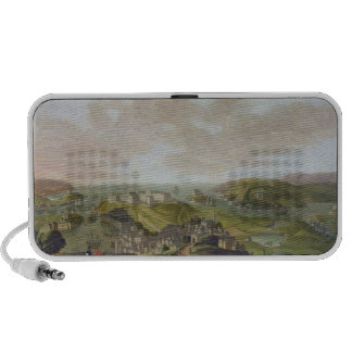 Plymouth, 1673 (oil on canvas) travelling speaker