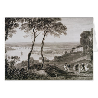 Plymouth Dock from Mount Edgecombe, from 'Cooke's Card